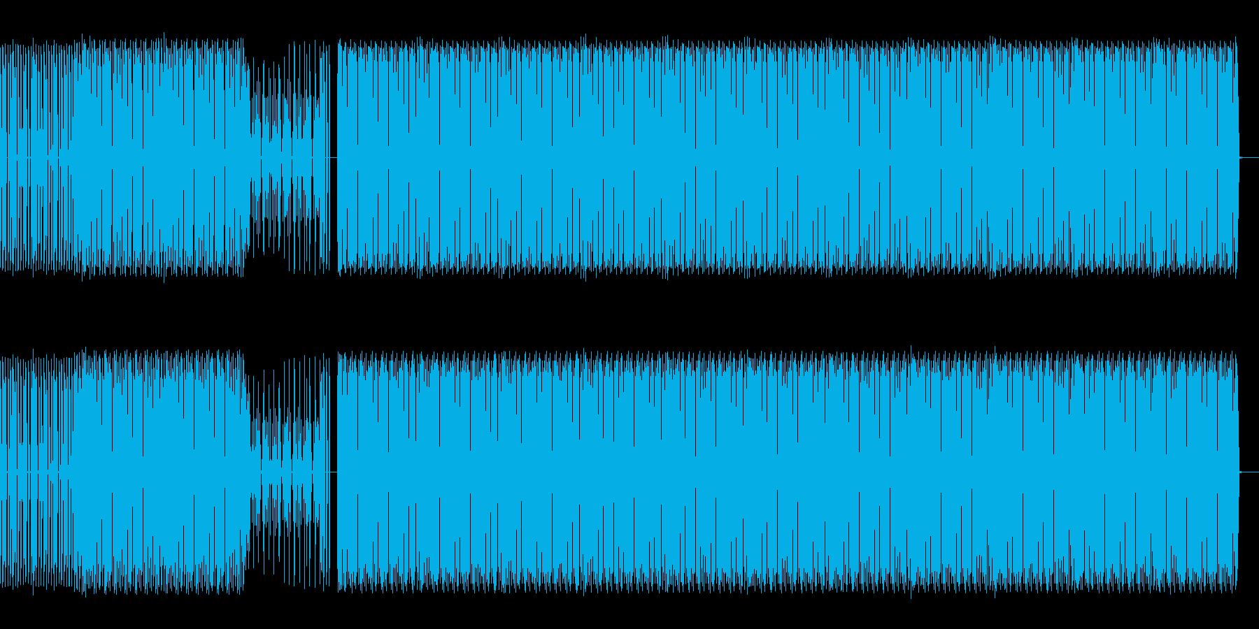 ドラムのループ音源の再生済みの波形