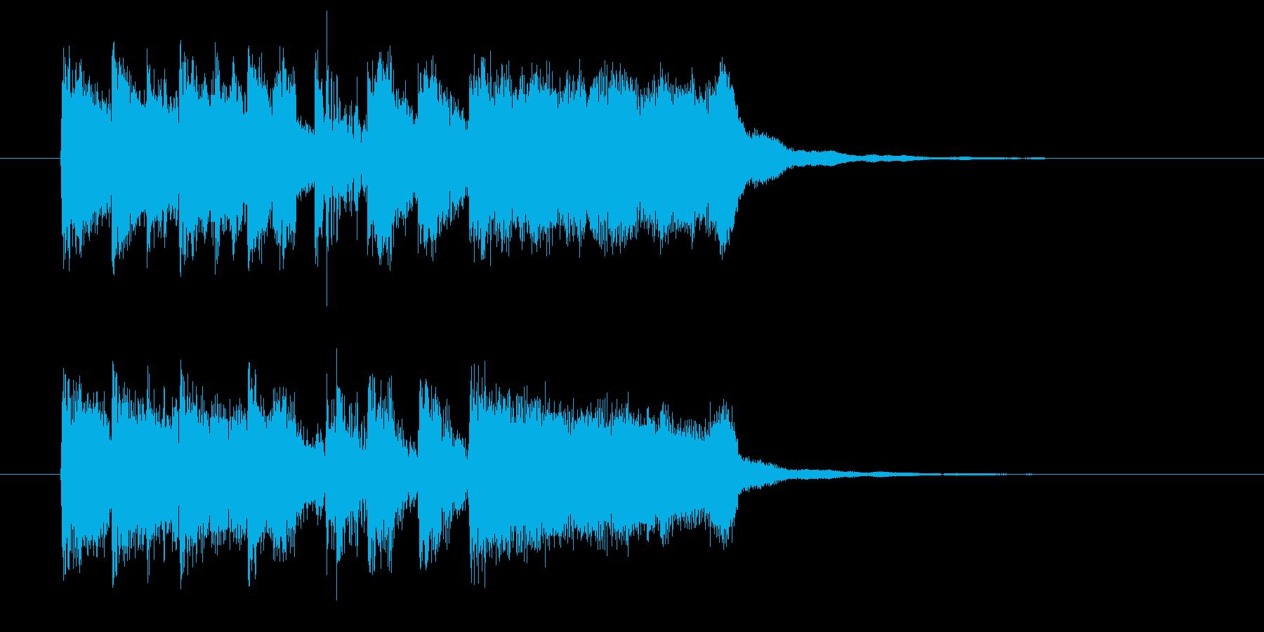 アップテンポでリズミカルなポップジングルの再生済みの波形