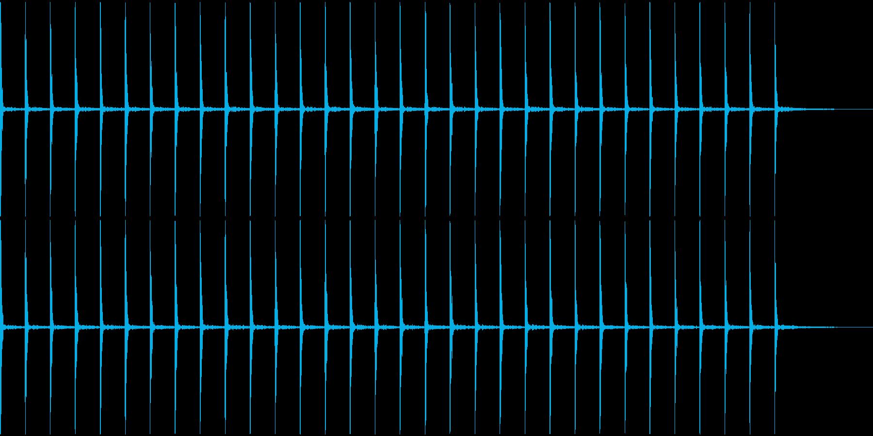 時計のカチカチ音の再生済みの波形