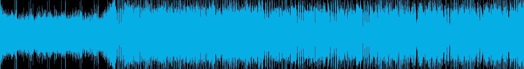 三味線のメタル調和風バトル曲【ループ可】の再生済みの波形