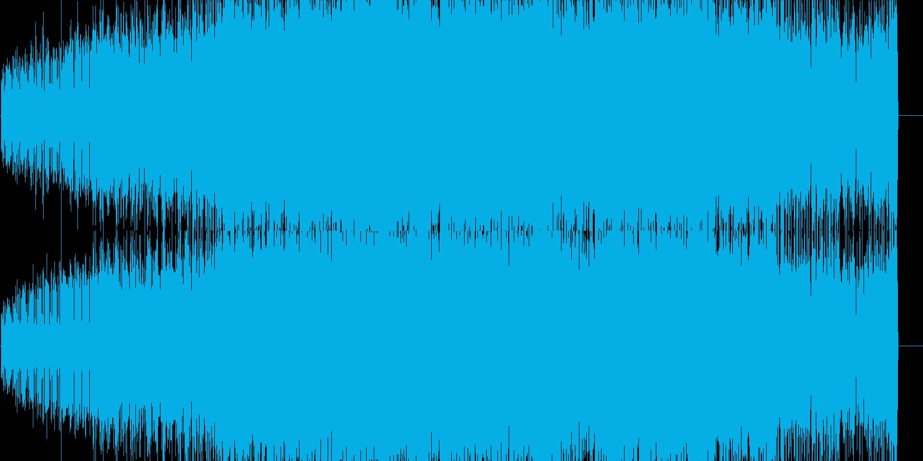 シンセを使った近未来風BGMの再生済みの波形