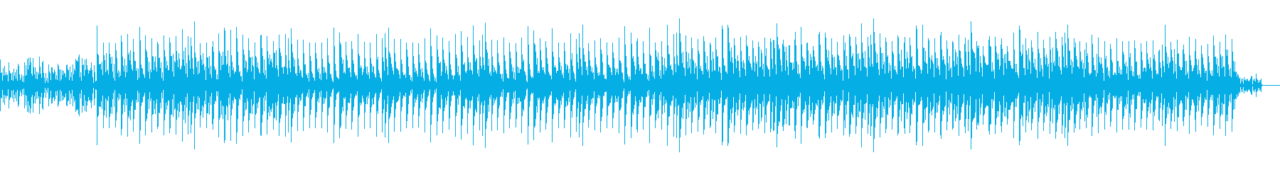 電脳世界の雰囲気をイメージしたシリアス曲の再生済みの波形