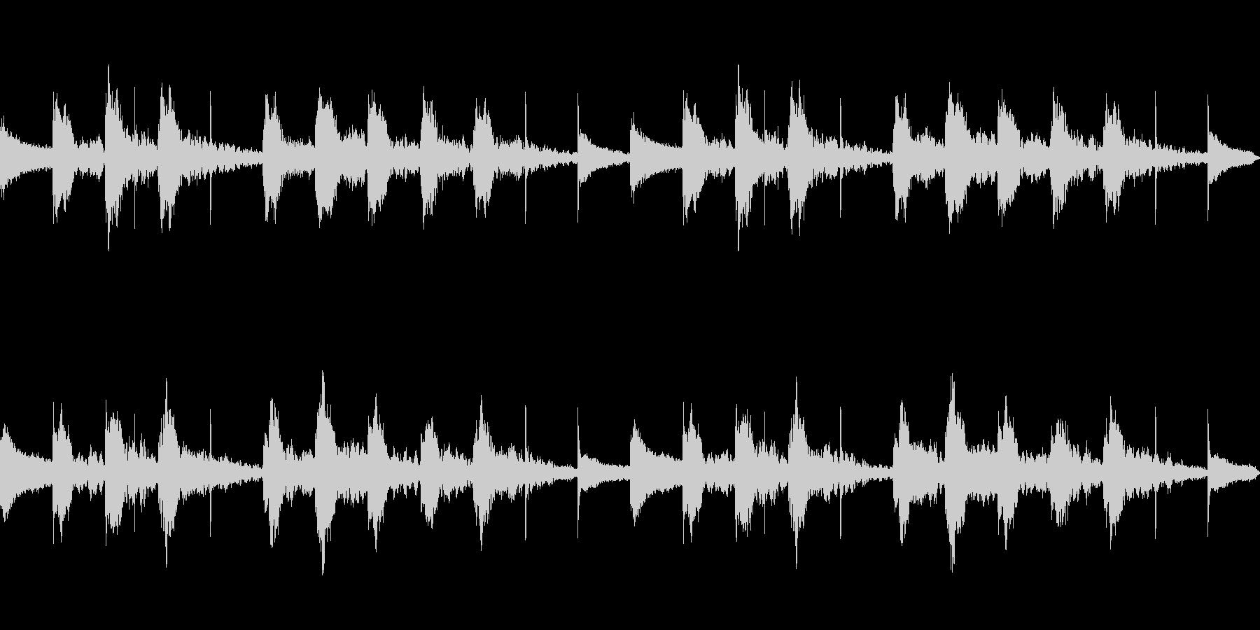 困惑 コミカル ループの未再生の波形