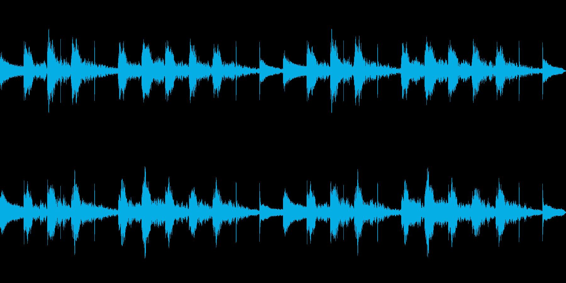 困惑 コミカル ループの再生済みの波形