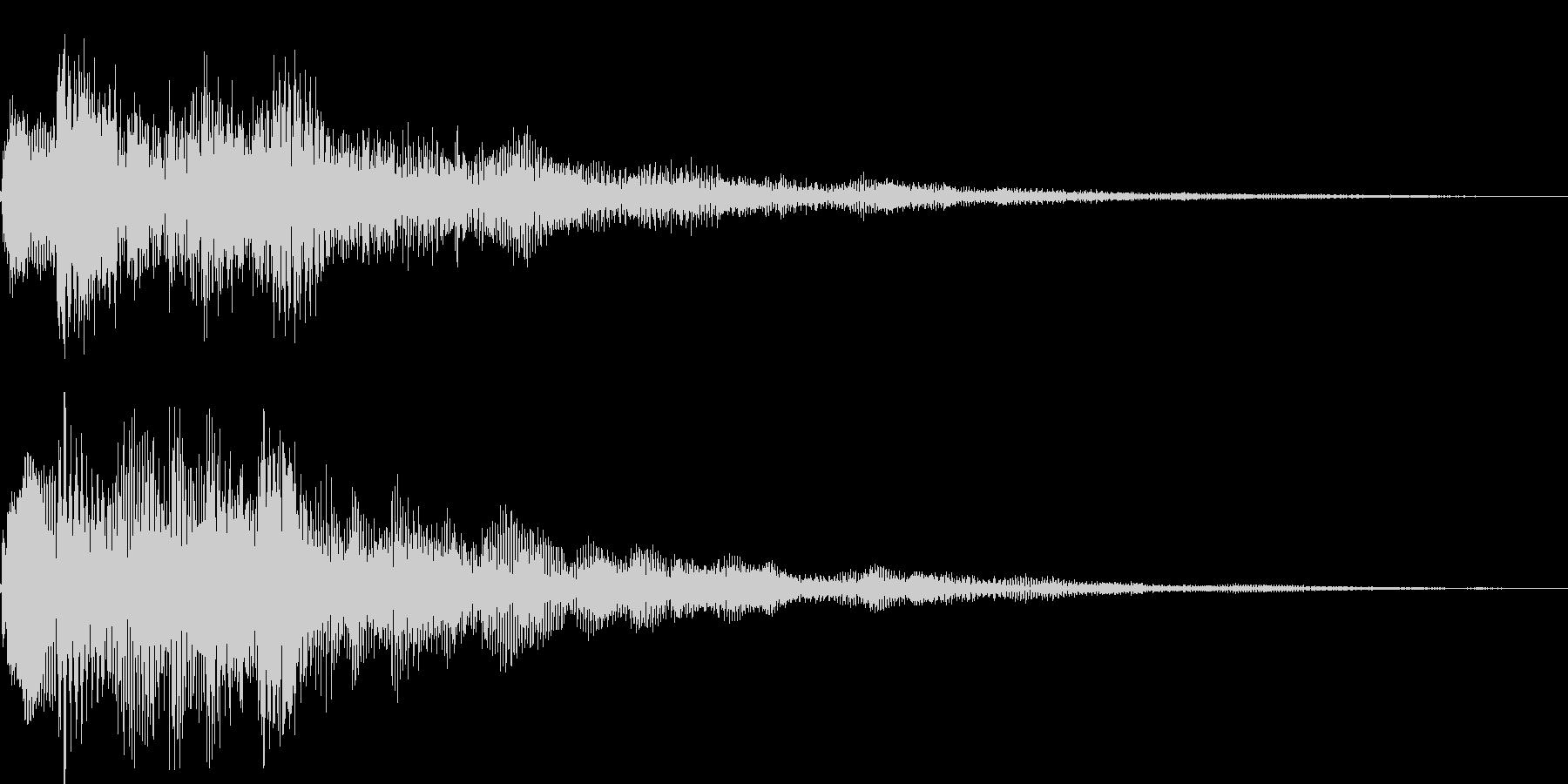 ピロロロン(タイトル表示、スワイプ)の未再生の波形