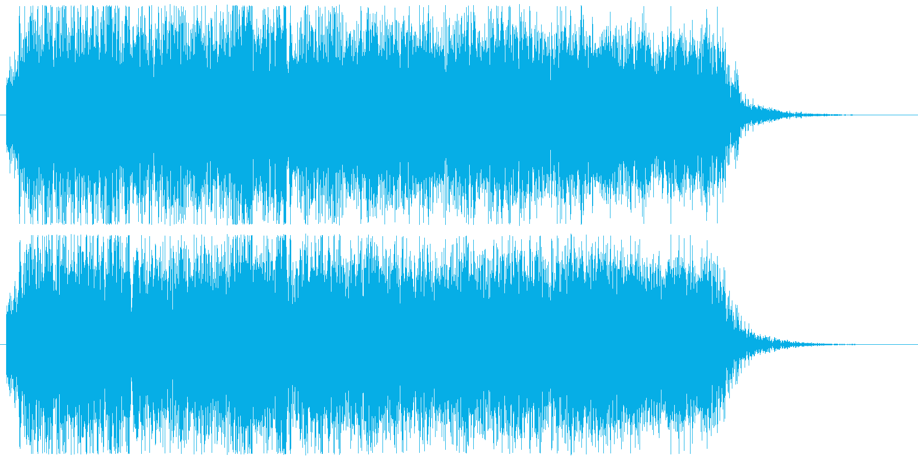 メタルギターフレーズ クールな場面転換の再生済みの波形