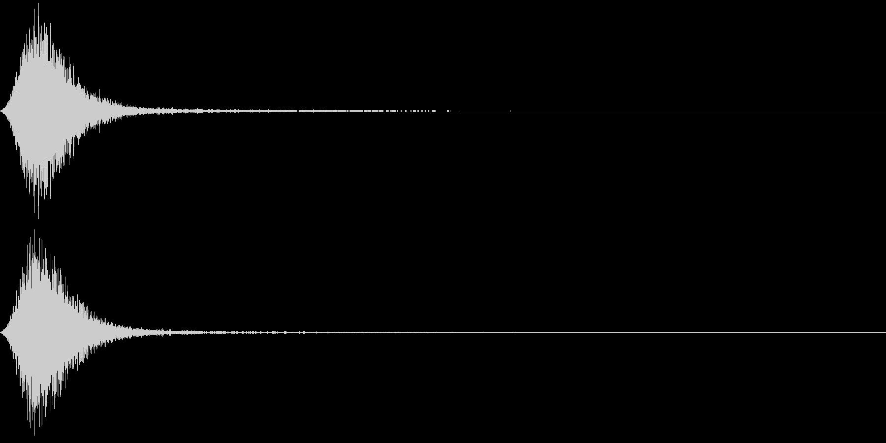Ninjya 忍者 クナイ攻撃SE 11の未再生の波形