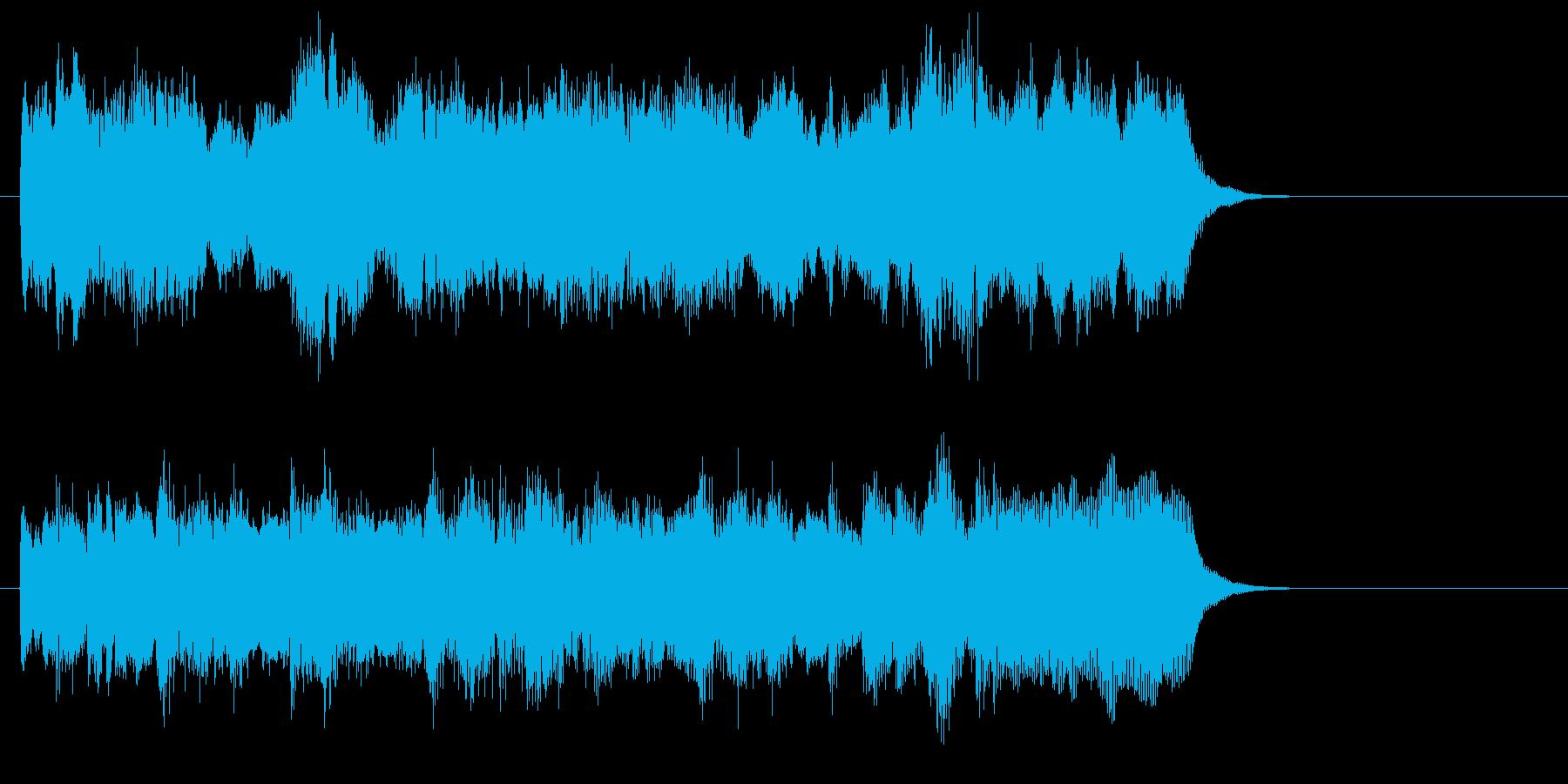 緩やかなストリングスポップジングルの再生済みの波形