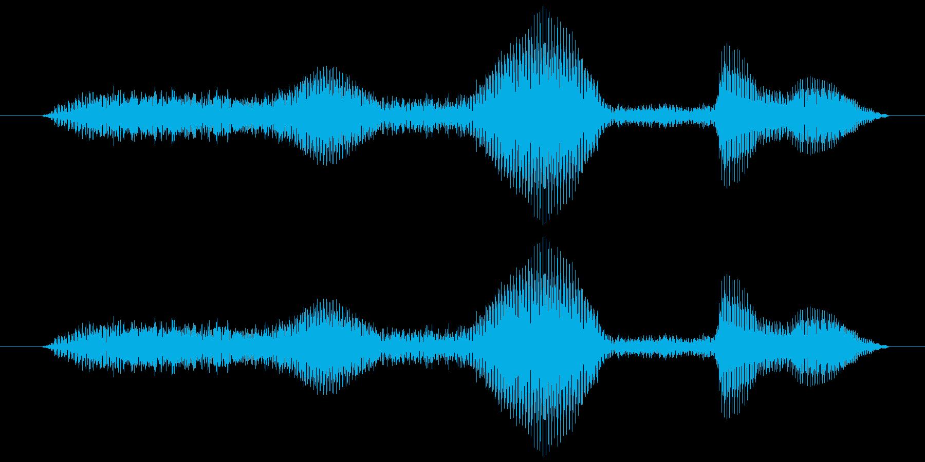 うふふふっ(女の子の笑い声)の再生済みの波形