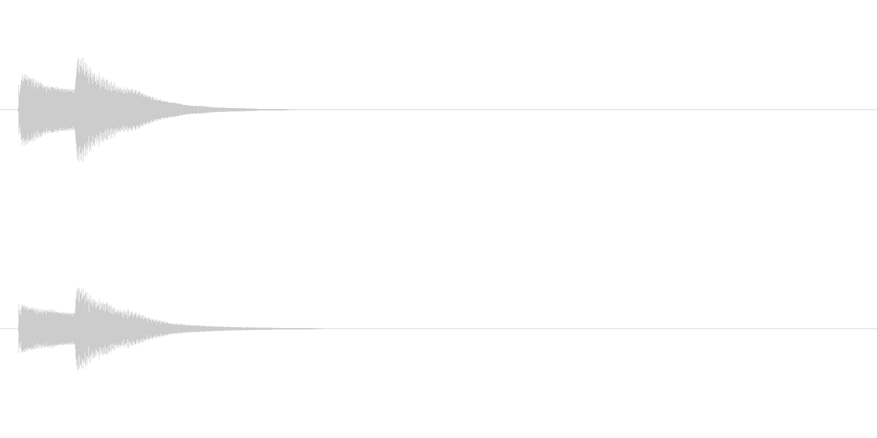 ピンポン!という鐘の正解音です。の未再生の波形