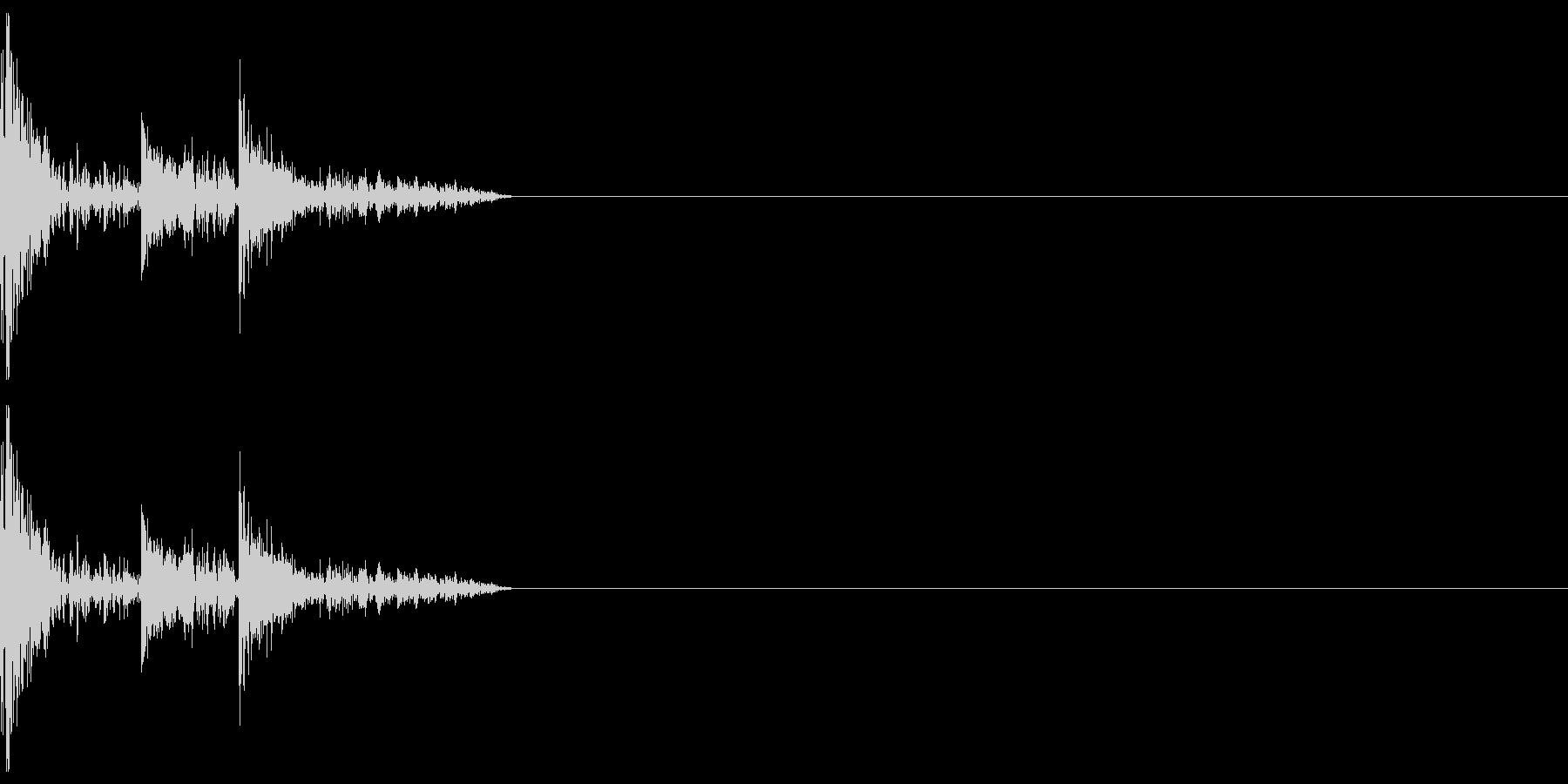 攻撃音などにの未再生の波形