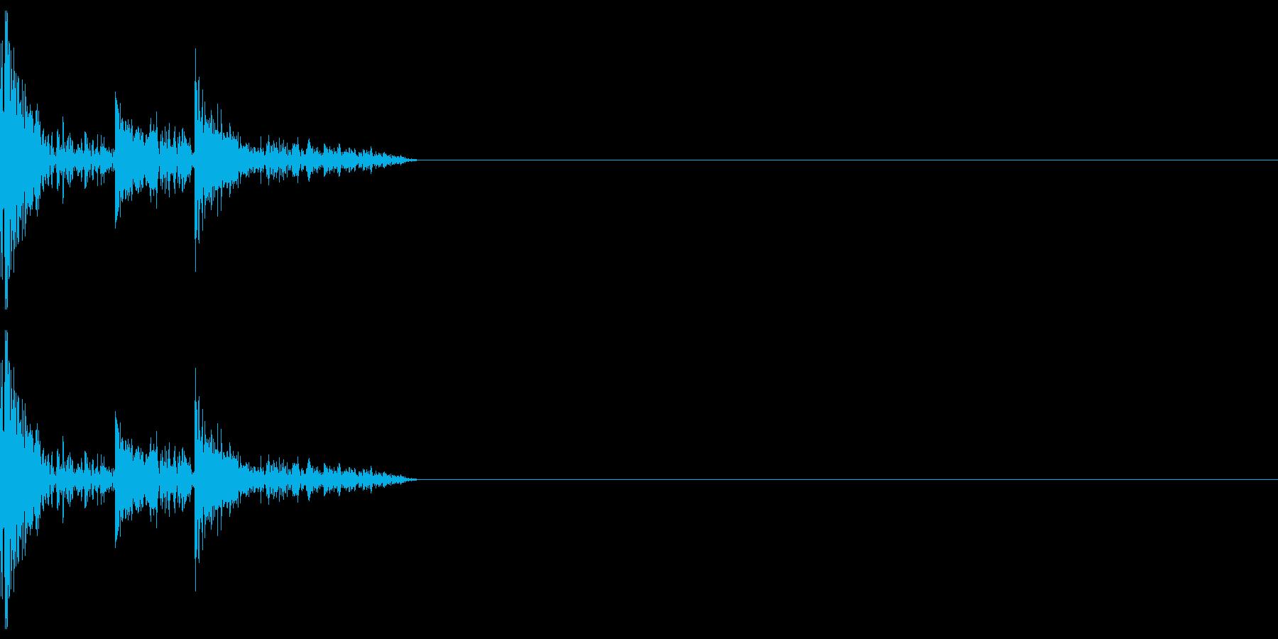 攻撃音などにの再生済みの波形