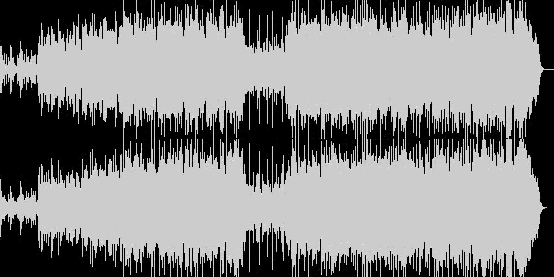 広がりのあるムード曲の未再生の波形