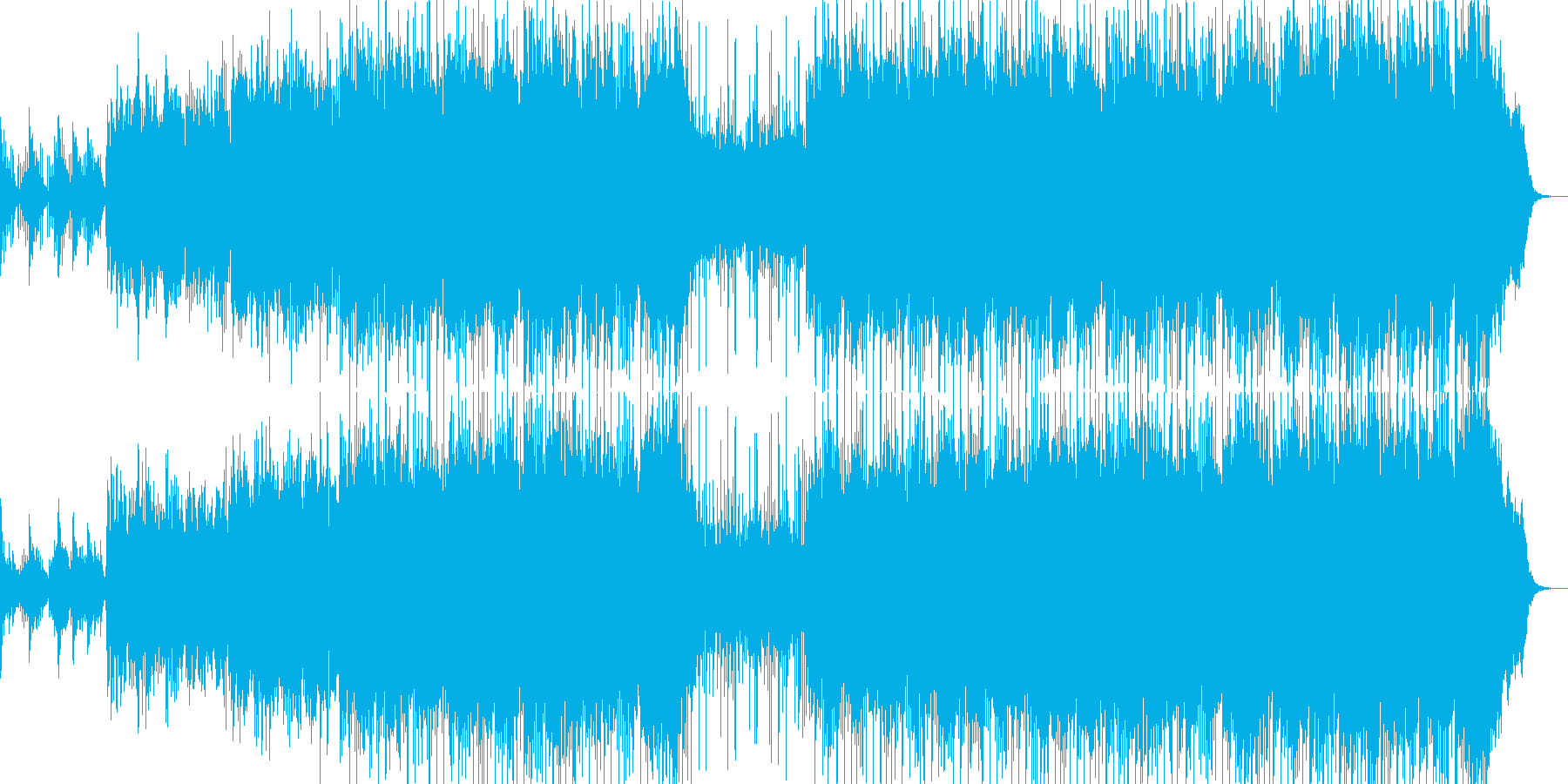 広がりのあるムード曲の再生済みの波形