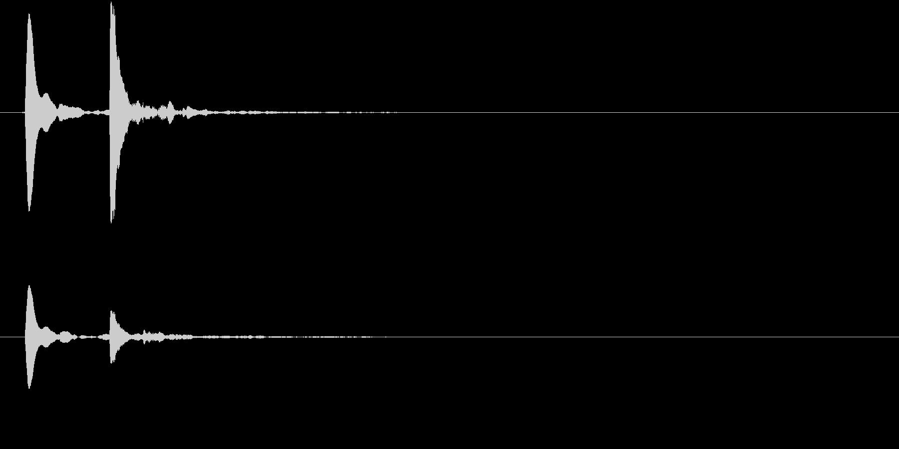コテッ(コミカル、転ぶ、すべる、失敗)の未再生の波形