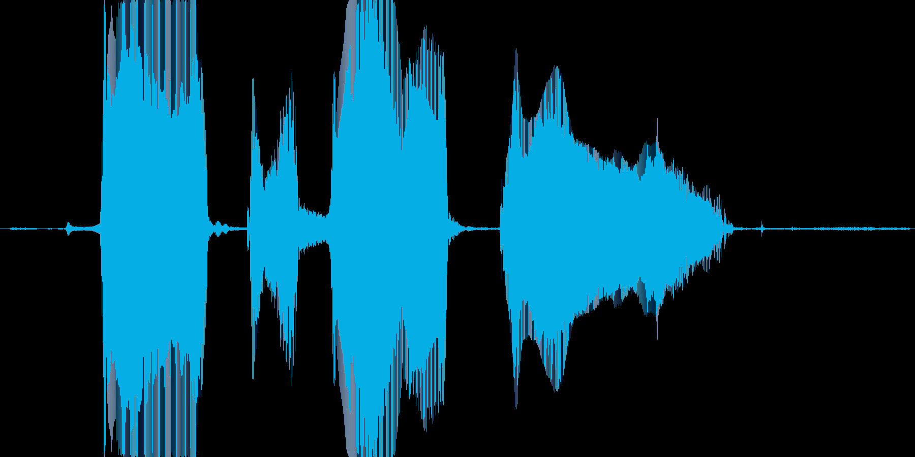 ばーかばーかぁの再生済みの波形
