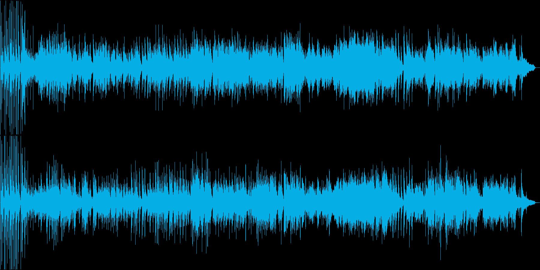 芸術性の高い変拍子のピアノソロ楽曲の再生済みの波形