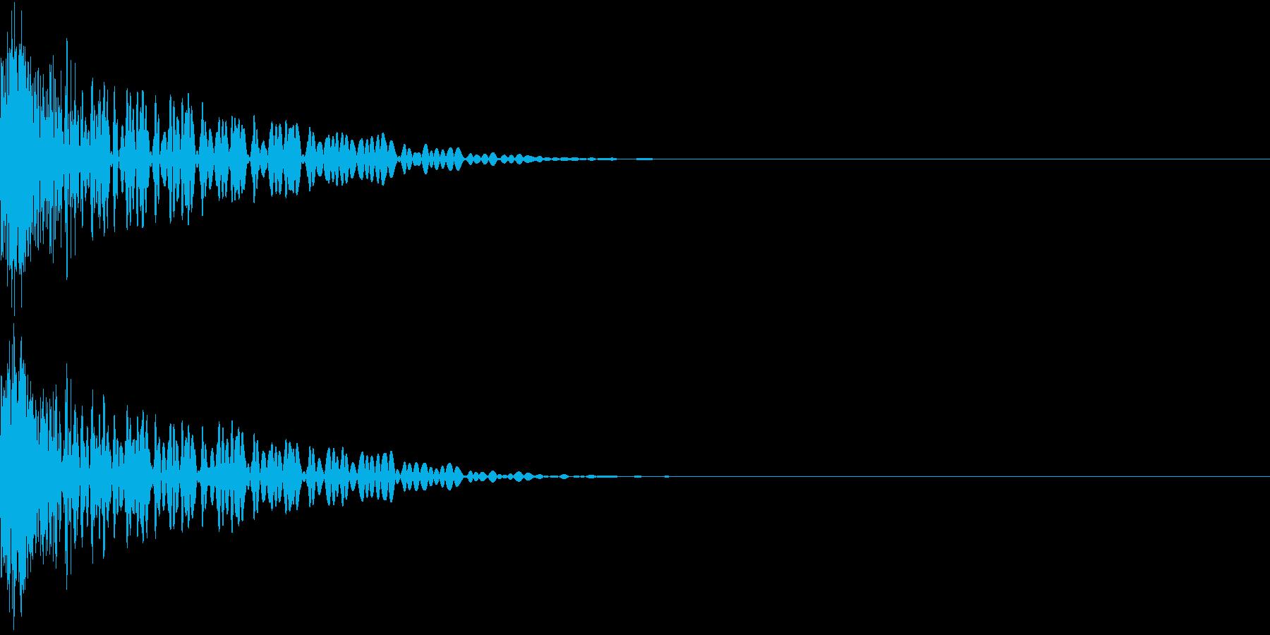 Invader インベーダー風 撃墜音の再生済みの波形