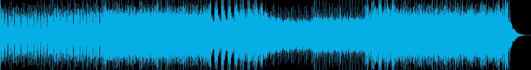 シリアスなシーン向けのヘヴィロックの再生済みの波形