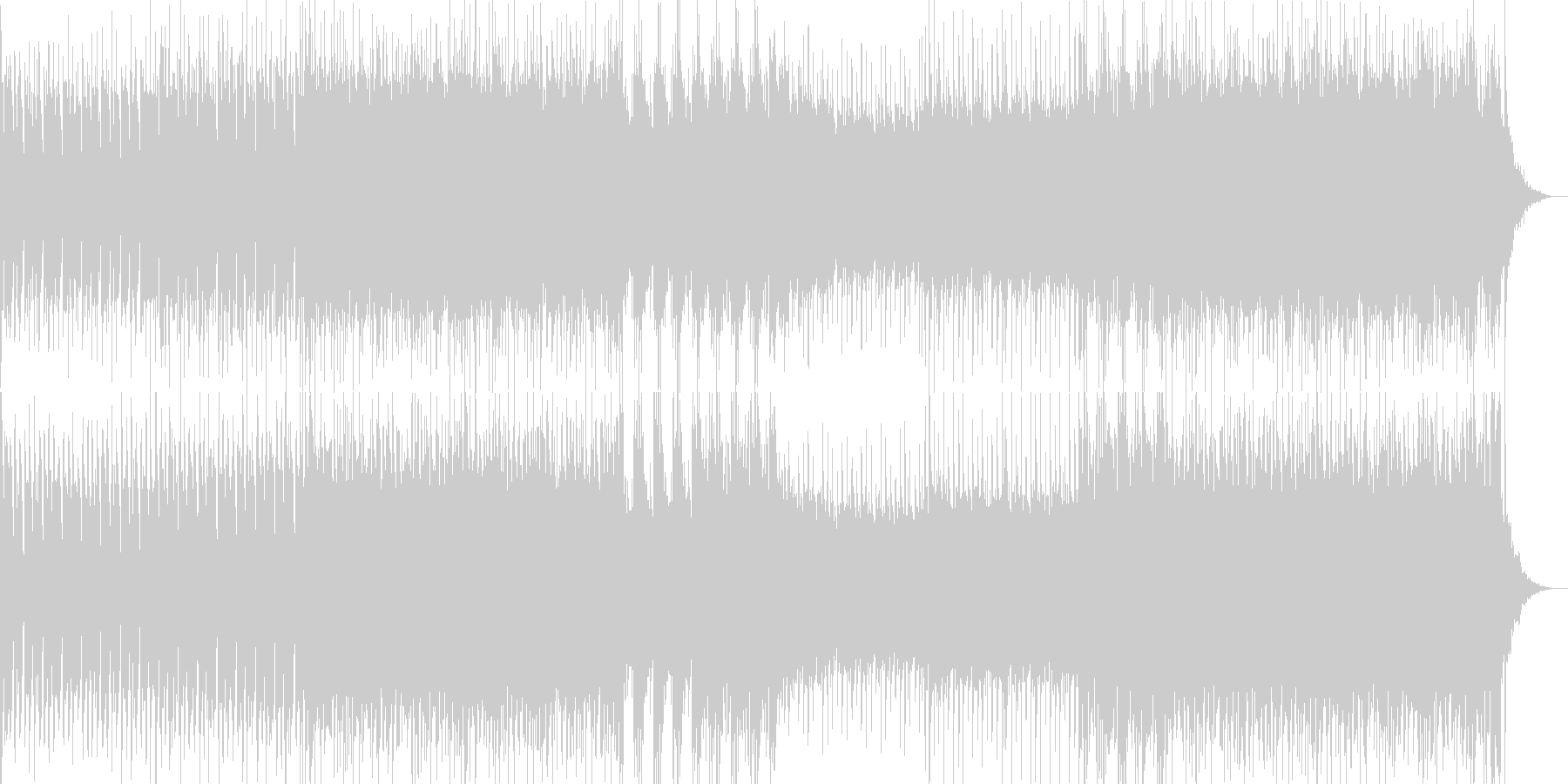 シリアスなシーン向けのヘヴィロックの未再生の波形