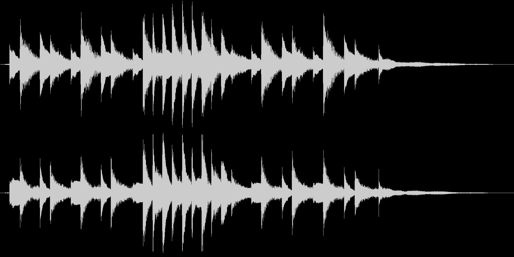 生ピアノ録音-ジムノペディのようなソロの未再生の波形