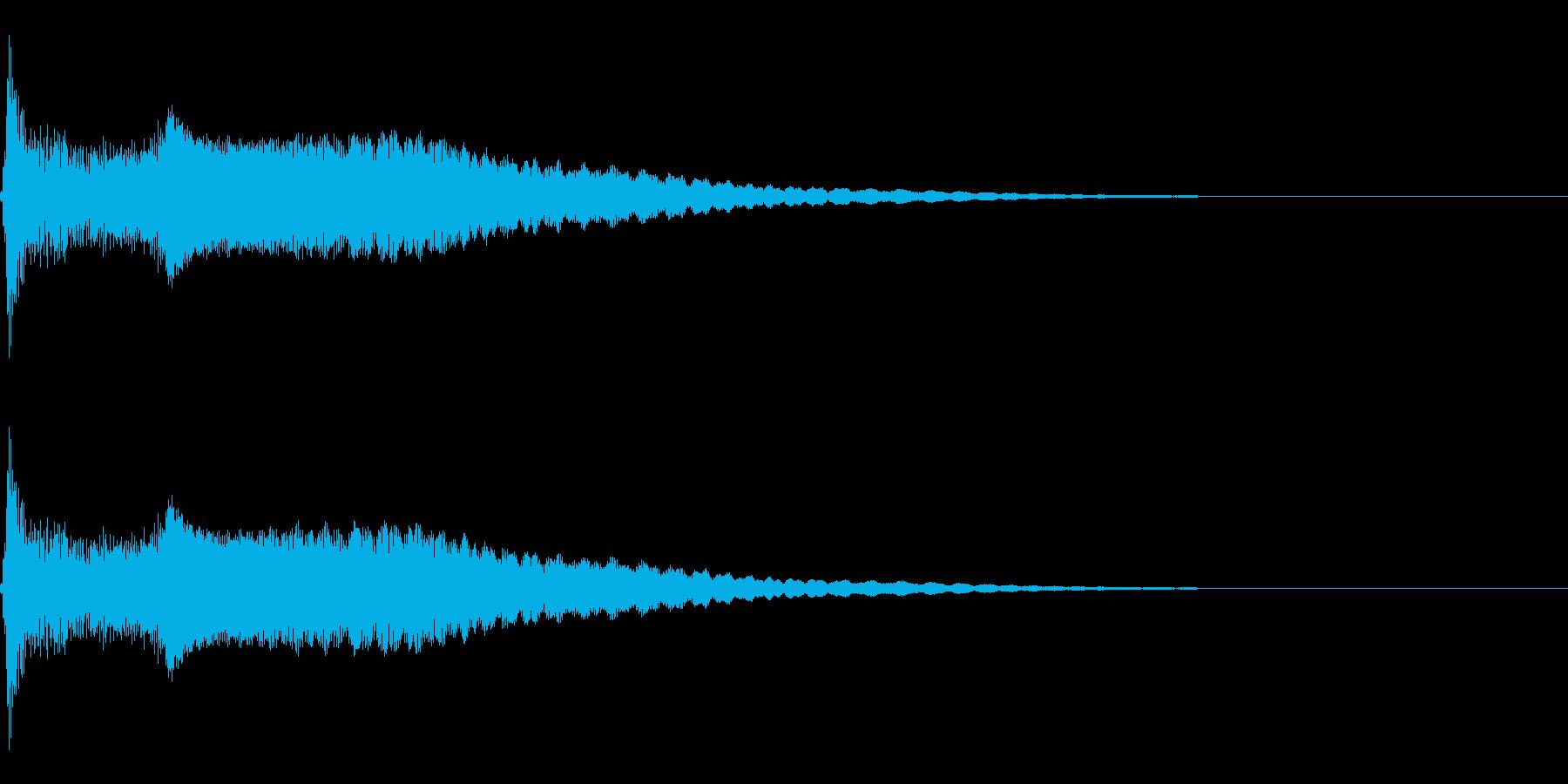 ポップ・ぴょこん・勢いよく飛び出すの再生済みの波形