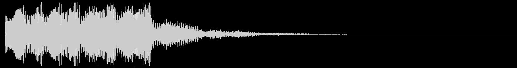 エレクトリックなピアノ アラート 注意の未再生の波形