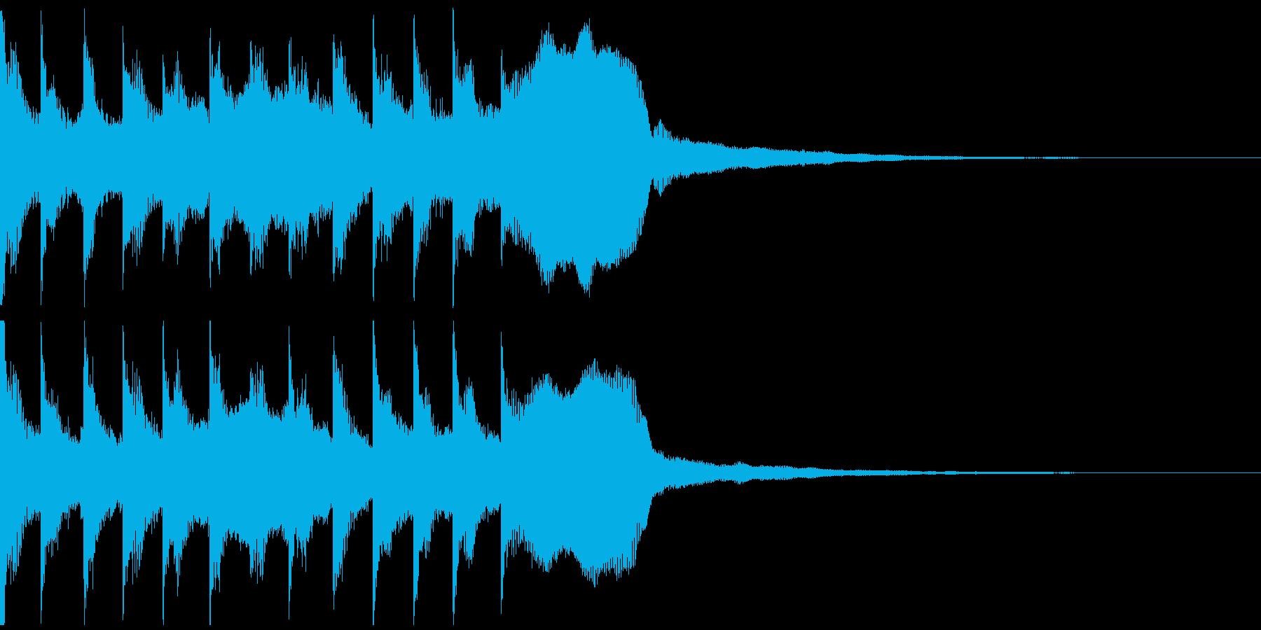 サウンドロゴ、ゴージャス感、verDの再生済みの波形
