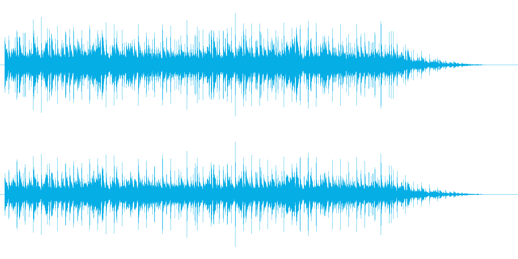 トランペットによる明るくわくわくする曲の再生済みの波形