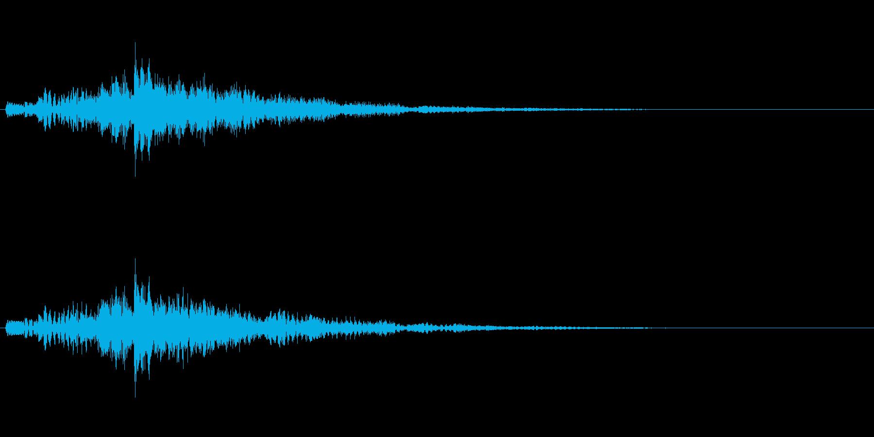 ゲームやアプリ用シンセ上昇アルペジオの再生済みの波形