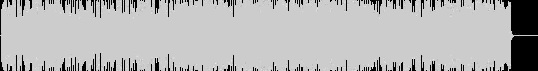 アップテンポなエレクトロニカロックの未再生の波形