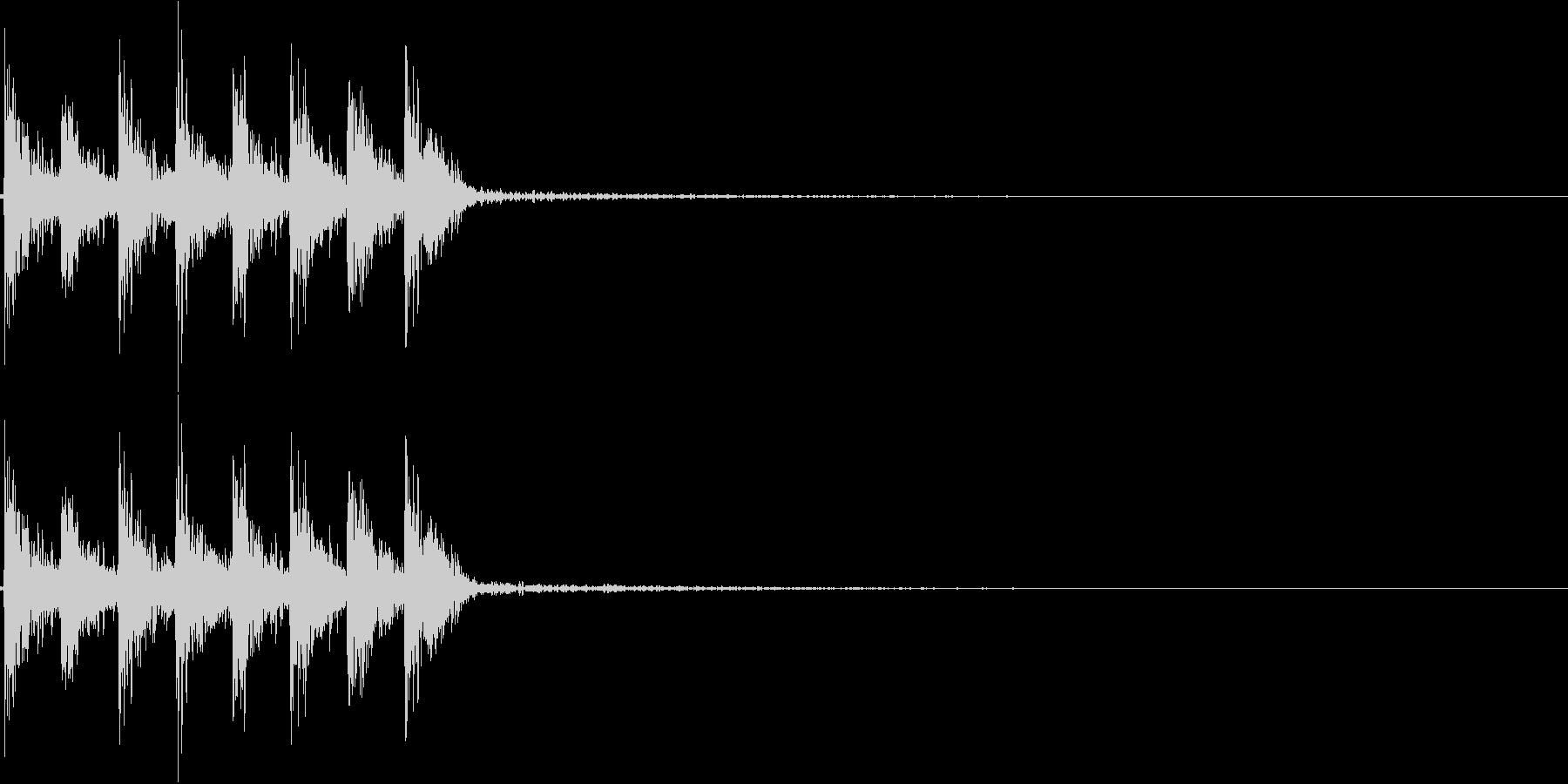 ダダダダ。発砲音D(連射・短め)の未再生の波形