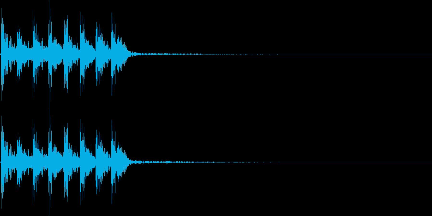 ダダダダ。発砲音D(連射・短め)の再生済みの波形