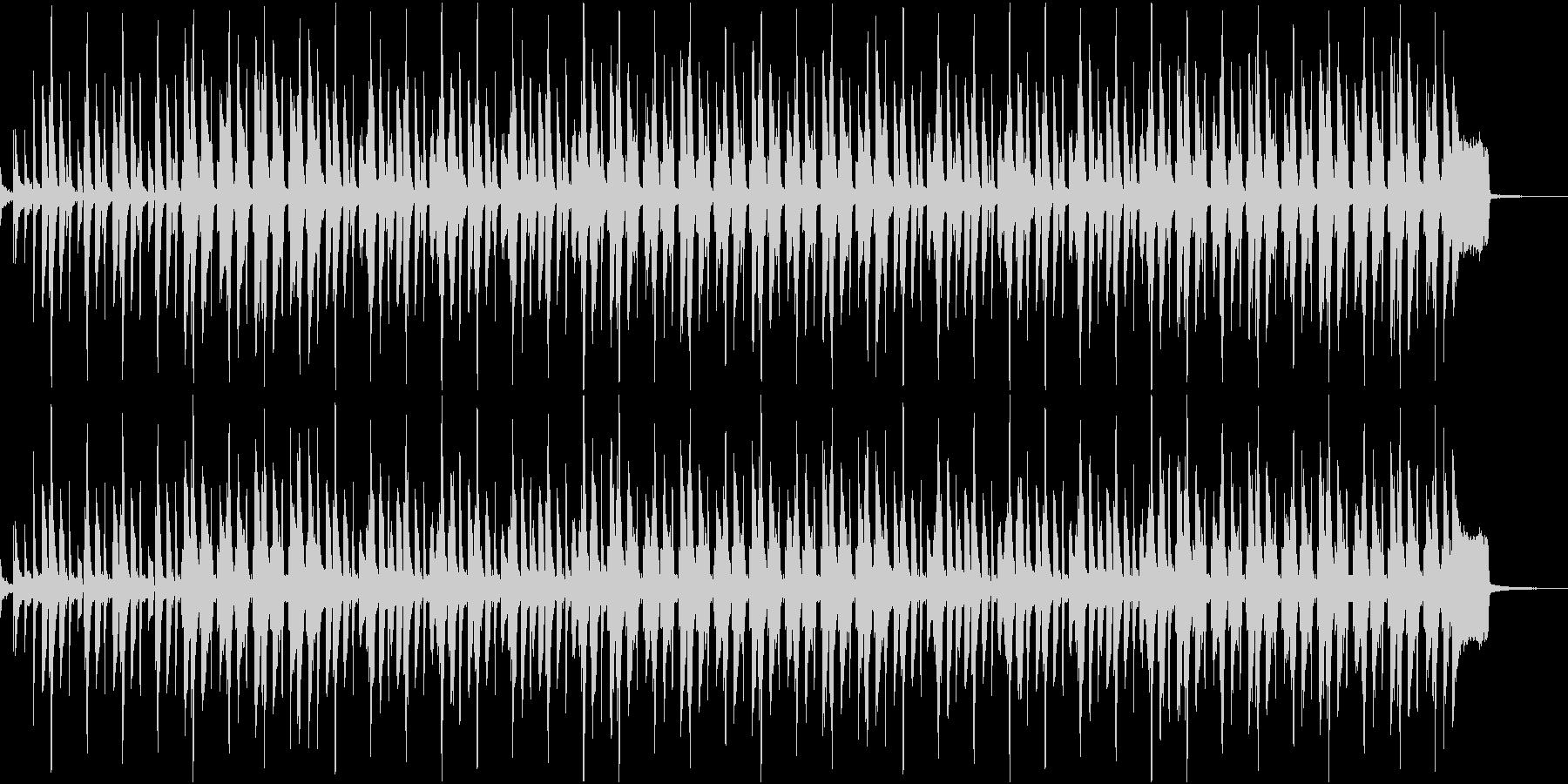 ふてくされているようなイメージのレゲエの未再生の波形
