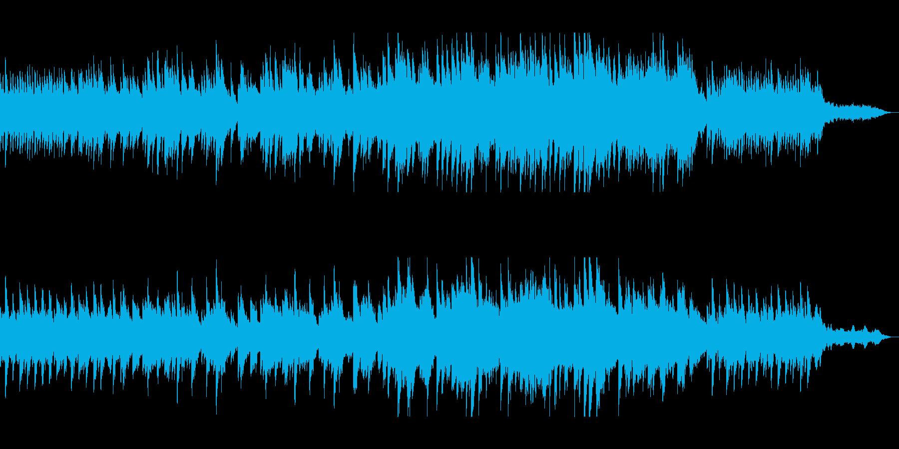 懐かしく穏やかなピアノメロディーの再生済みの波形
