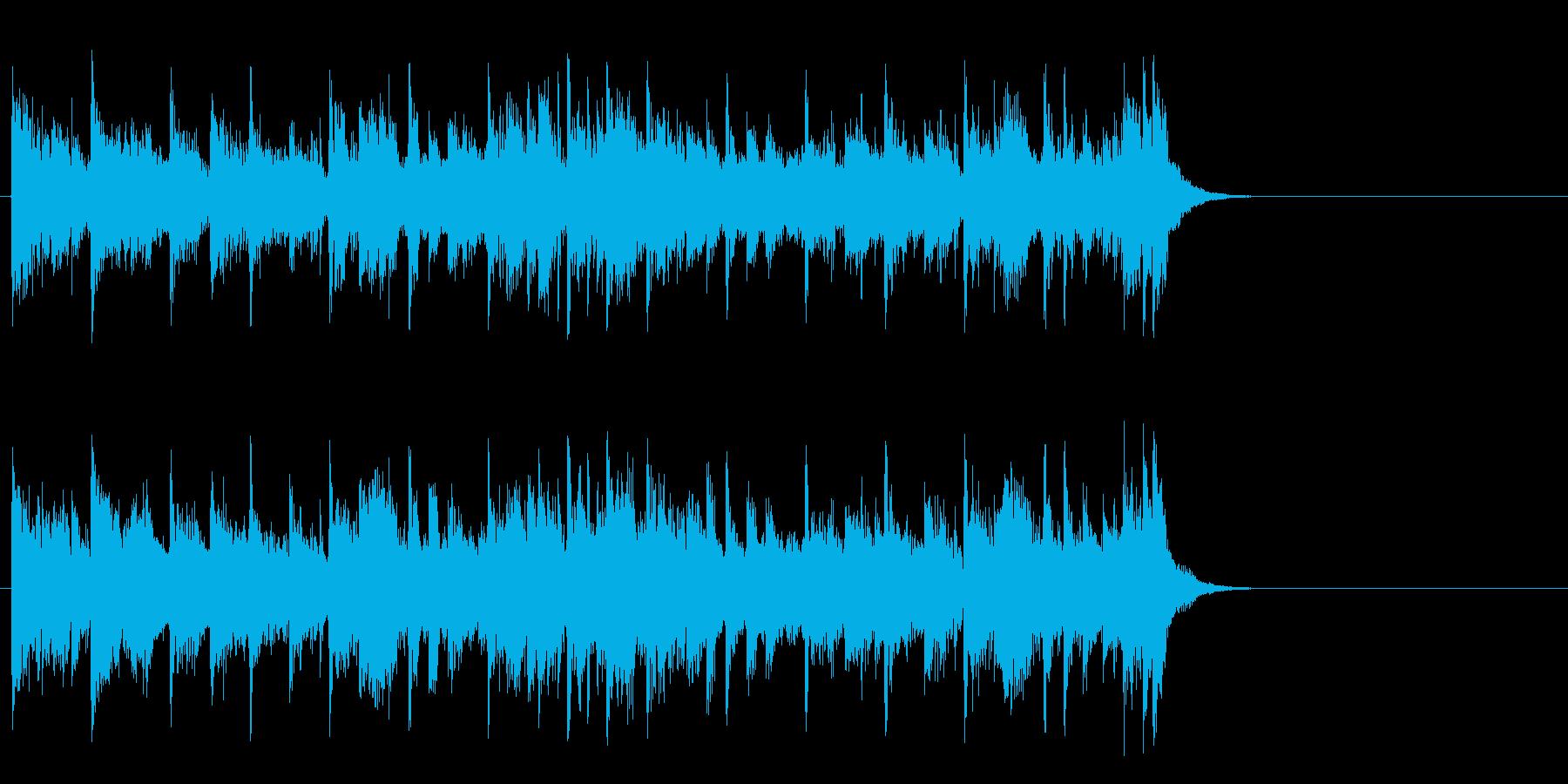 力強いファンク ポップ(Aメロ)の再生済みの波形