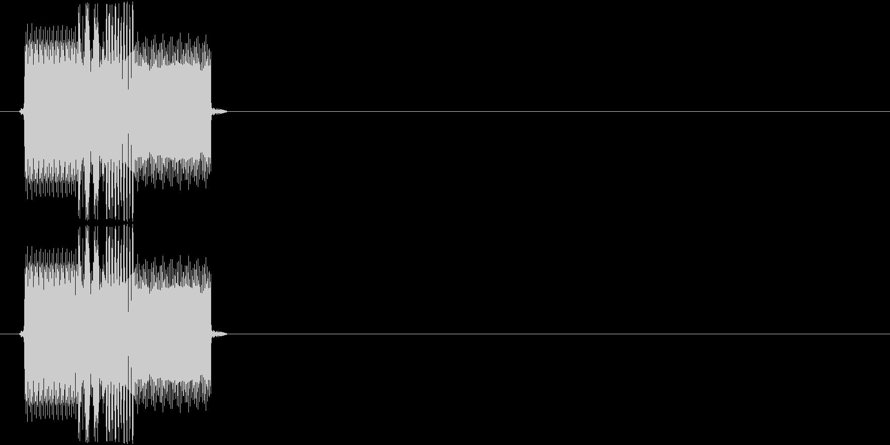 チャララッ↑(決定音、起動音、機械)の未再生の波形