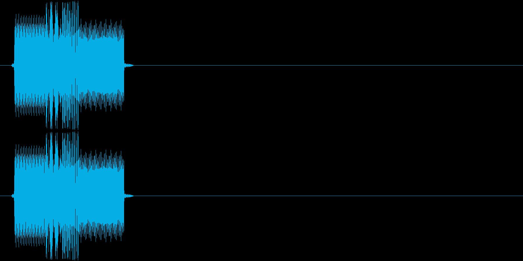 チャララッ↑(決定音、起動音、機械)の再生済みの波形