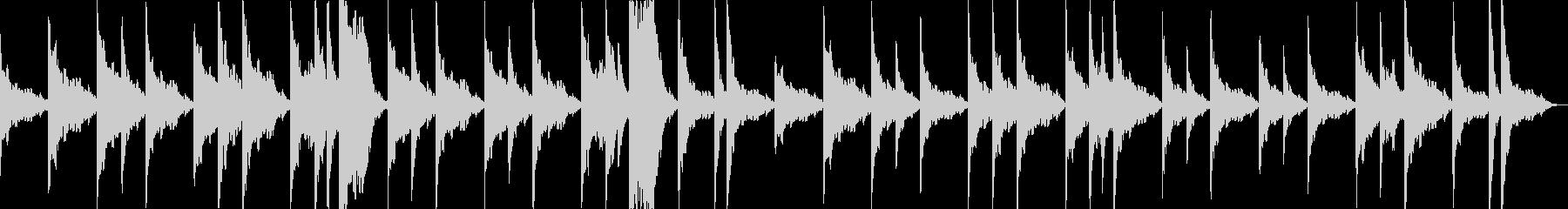 シタールの謎めいたお寺のBGMの未再生の波形