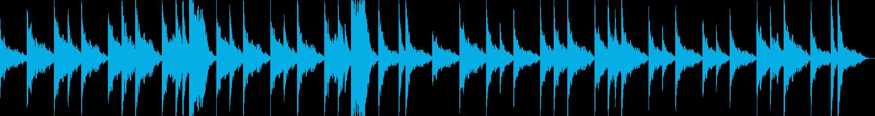 シタールの謎めいたお寺のBGMの再生済みの波形
