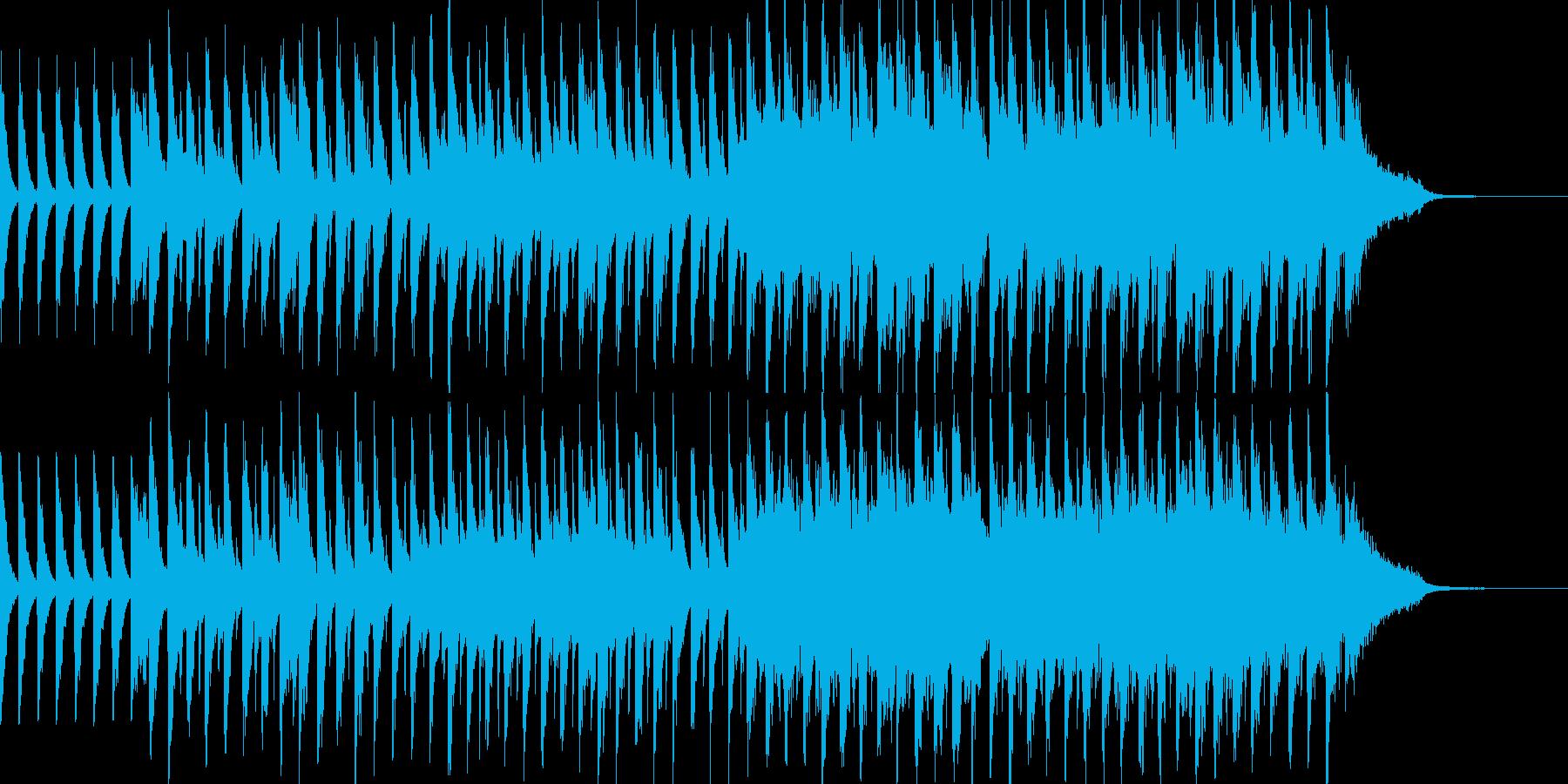 ポップで明るいBGMの再生済みの波形