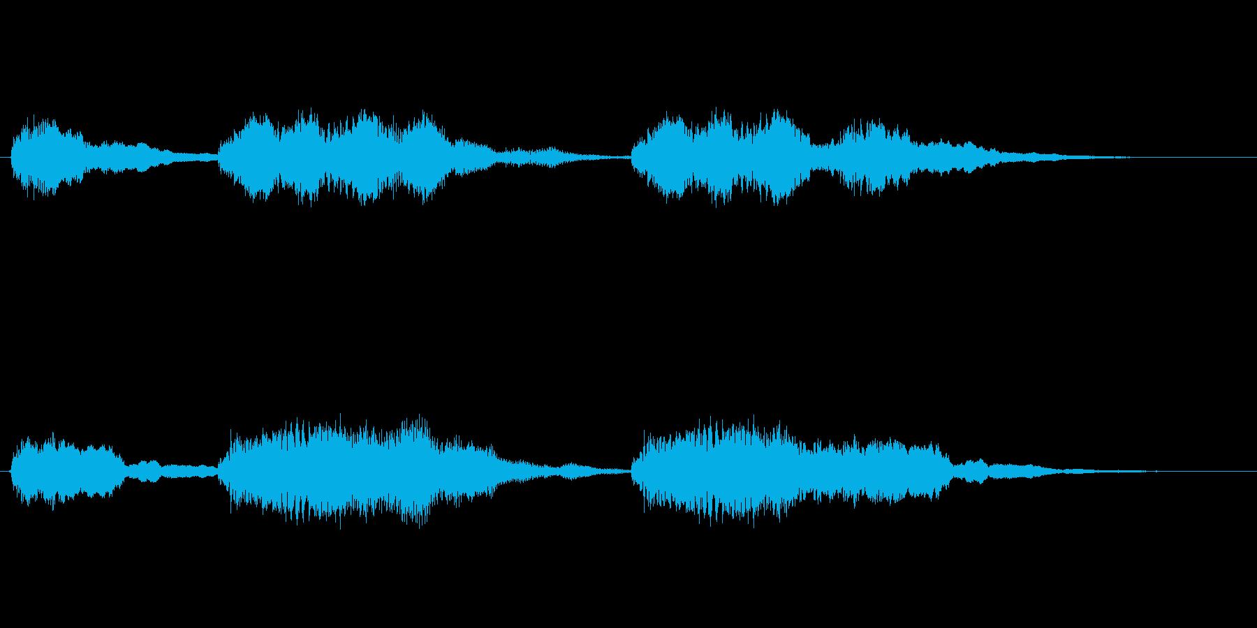 アクションゲーム等のステージクリア音の再生済みの波形