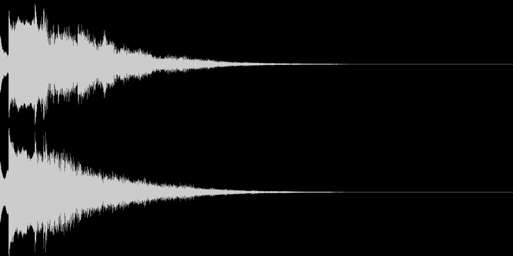 決定音20(暗い)の未再生の波形