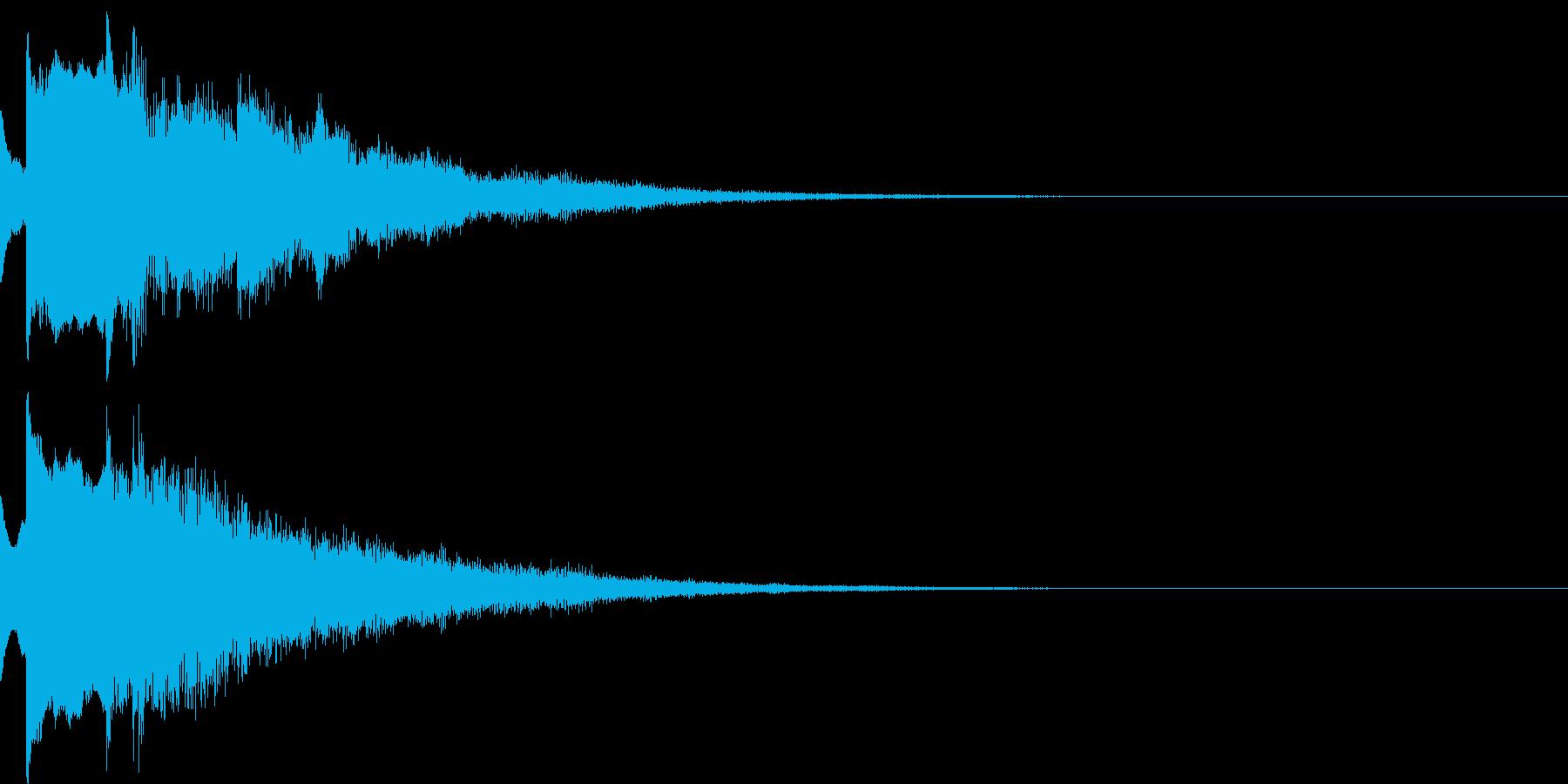 決定音20(暗い)の再生済みの波形