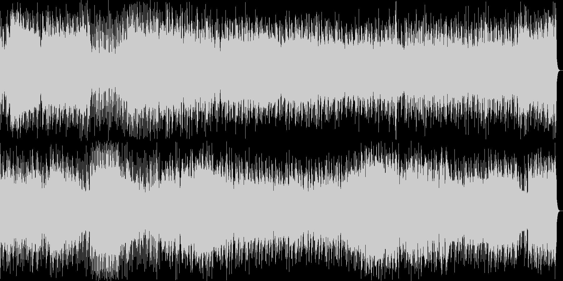 重たいベースが特徴のBGMの未再生の波形