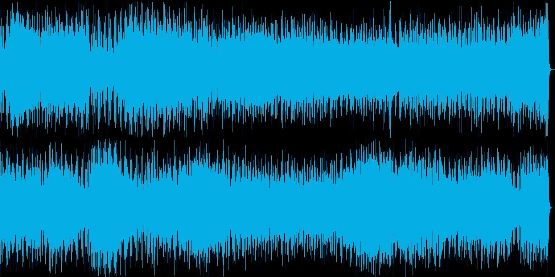 重たいベースが特徴のBGMの再生済みの波形