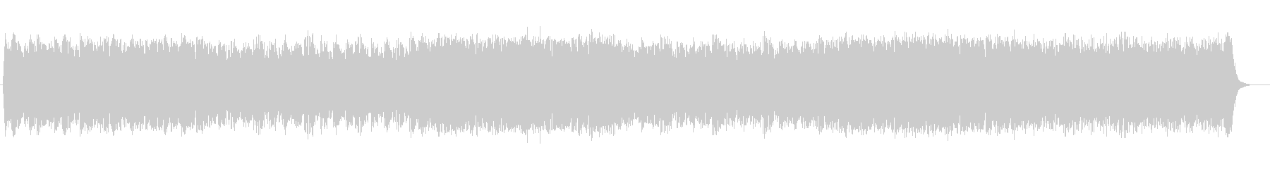 ファンタジックなシンセサイザーサウンドの未再生の波形