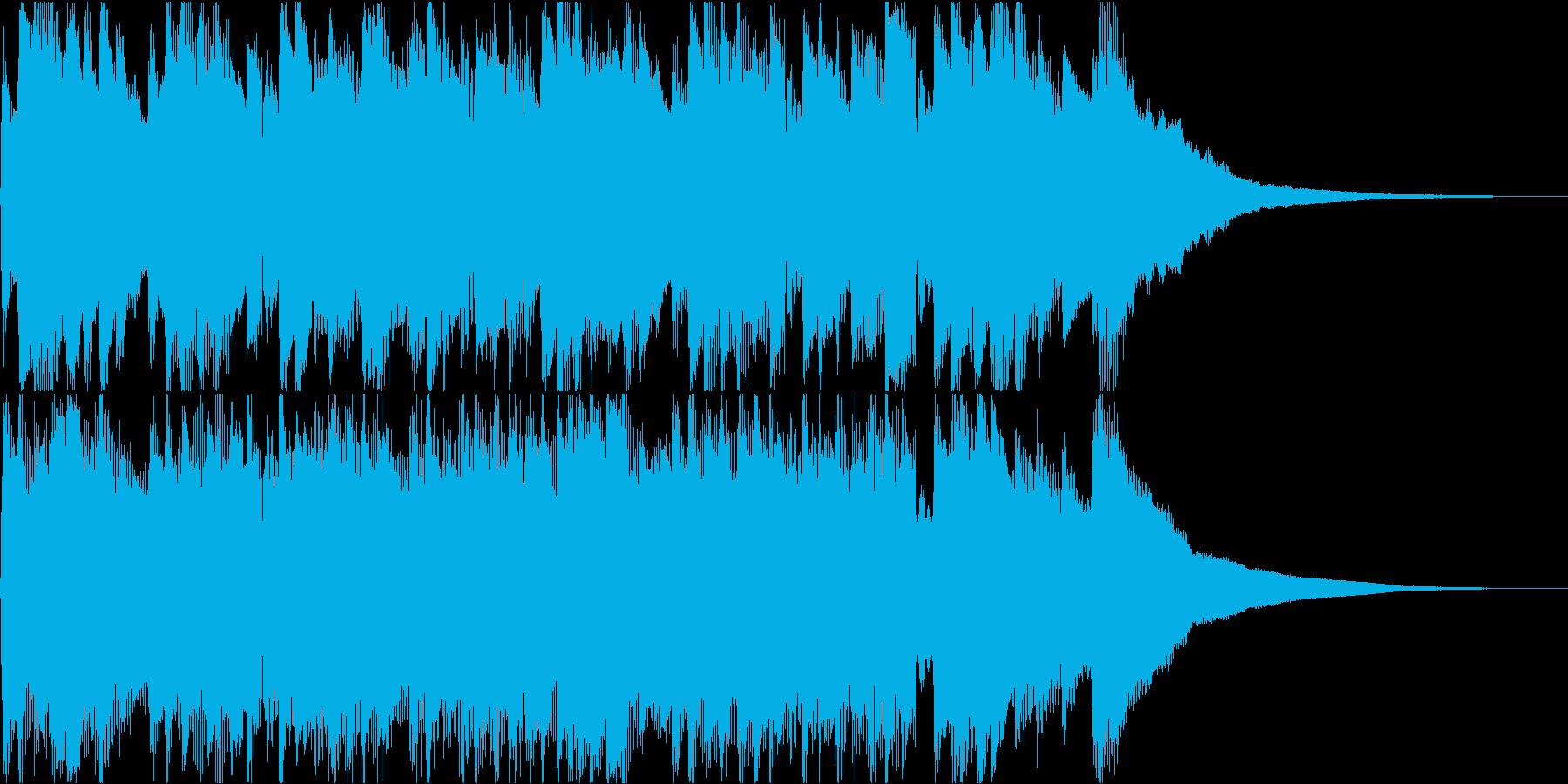穏やかで温かいアコギソロジングルの再生済みの波形