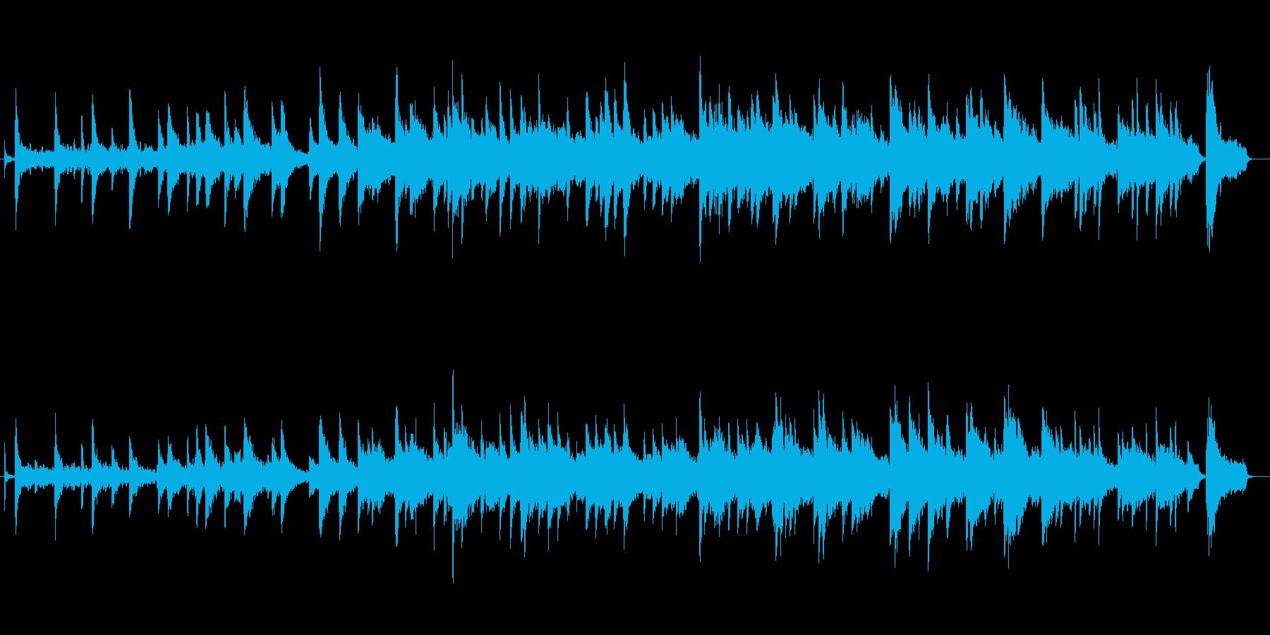 ピアノと少年合唱団によるバラードBGMの再生済みの波形