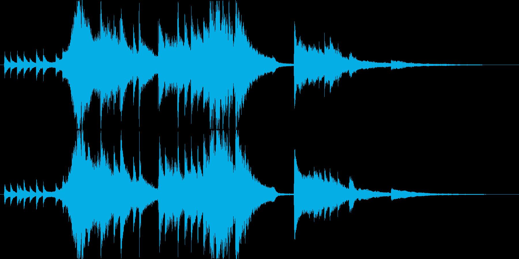 メロウでのびやかなクリスマスジングルの再生済みの波形